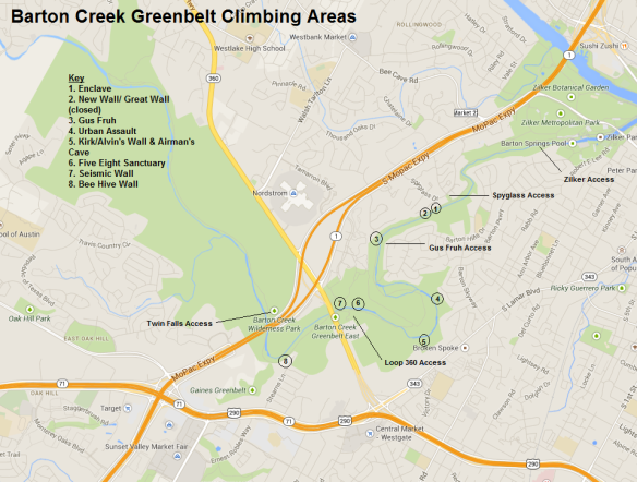 Barton Creek Greenbelt Climbing
