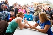 Elizabeth Honaker and Minna Harman battle in the Women's Intermediate tiebreaker!